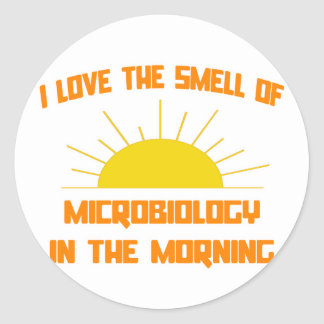 Smell of Microbiology in the Morning Round Sticker