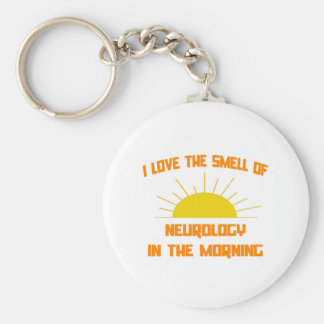 Smell of Neurology in the Morning Basic Round Button Keychain