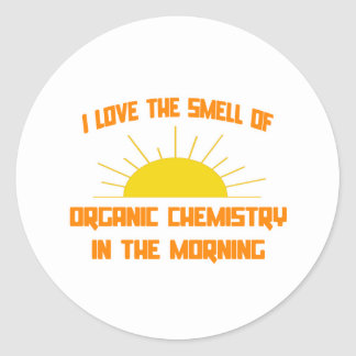 Smell of Organic Chemistry in the Morning Classic Round Sticker