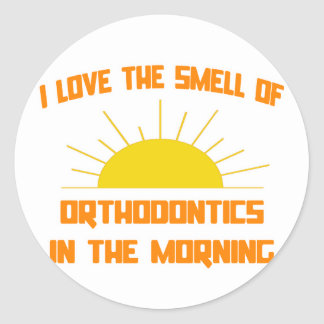 Smell of Orthodontics in the Morning Classic Round Sticker