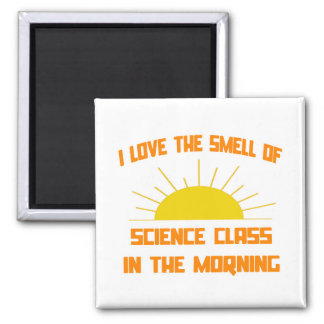 Smell of Science Class in the Morning 2 Inch Square Magnet