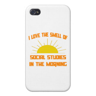 Smell of Social Studies in the Morning iPhone 4 Covers