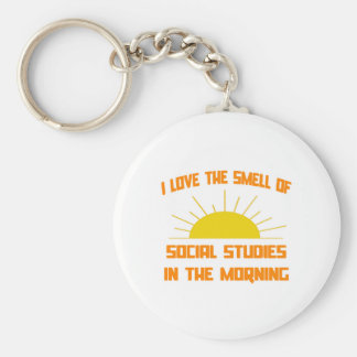 Smell of Social Studies in the Morning Keychains