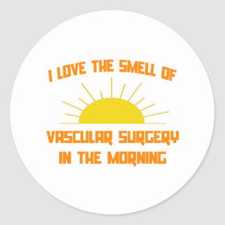 Smell of Vascular Surgery in the Morning Classic Round Sticker