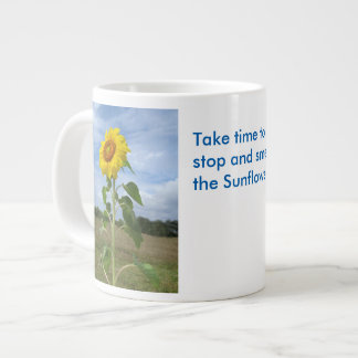 Smell Sunflowers flowers Spiegeland Large Coffee Mug