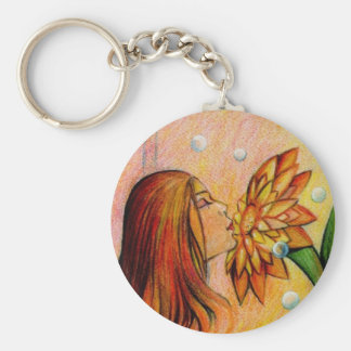 Smell the Beautiful Fragrance Keychain