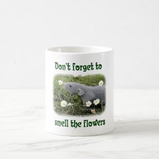 Smell The Flowers Classic White Coffee Mug