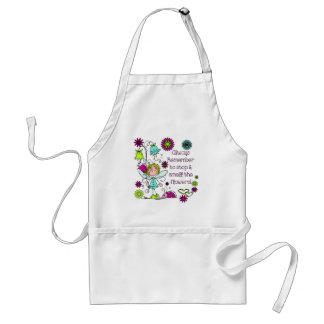 Smell the Flowers Cute Garden Fairy Adult Apron
