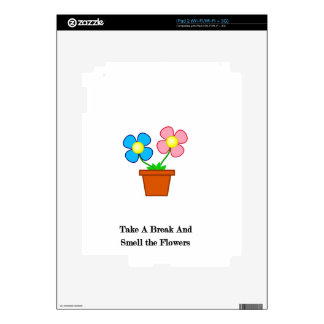 Smell The Flowers Decals For The iPad 2