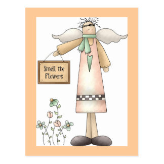 Smell the Flowers-Postcard