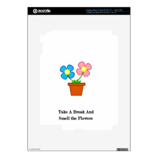 Smell The Flowers Skins For iPad 3