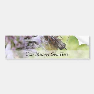 Smell The Flowers – Skipper Butterfly on Agastache Car Bumper Sticker