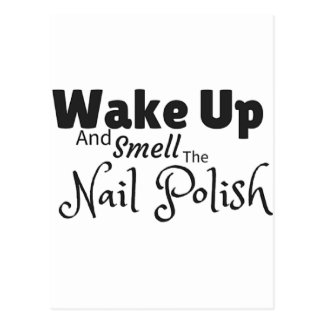 Smell the nail polish gifts postcard