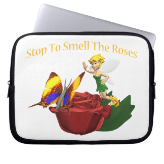 Smell The Roeses Butterfly & Fairy Laptop Computer Sleeve