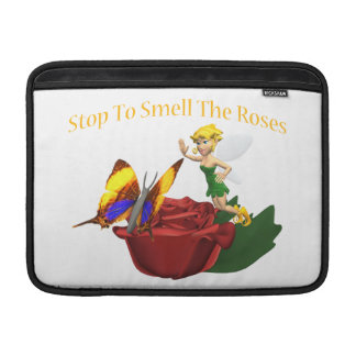 Smell The Roeses Butterfly & Fairy MacBook Air Sleeves