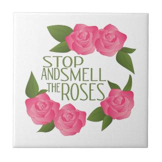Smell The Roses Ceramic Tile