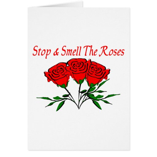 Smell The Roses Greeting Cards