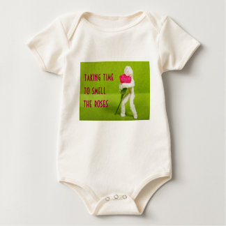 smell the roses infant onsie creeper