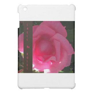 Smell the Roses - Pink Rose Message iPad Mini Covers