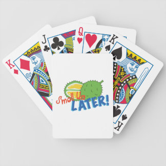 Smell Ya Later Bicycle Playing Cards
