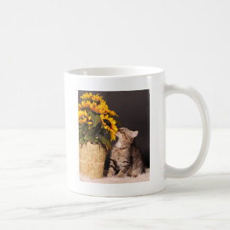 Smelling the flowers coffee mug