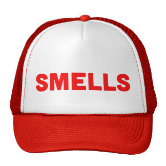 SMELLS funny slogan trucker hat