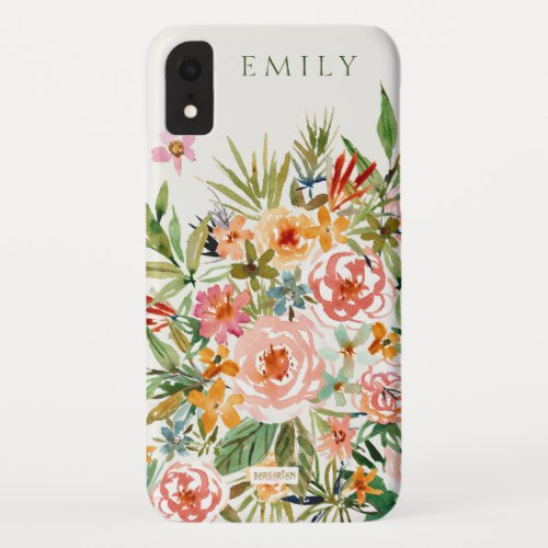 SMELLS LIKE LOVE IN ALL FORMS Floral Monogram Phone Case
