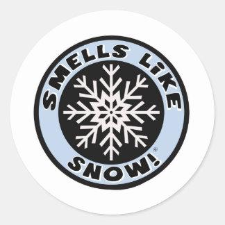 Smells Like Snow! Classic Round Sticker