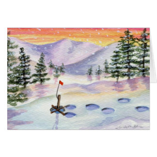 Smells Like Snow! Icefishing Card
