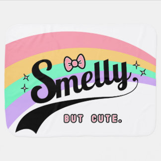 Smelly but cute funny baby silly lol stroller blanket