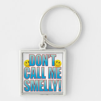 Smelly Call Life B Silver-Colored Square Keychain