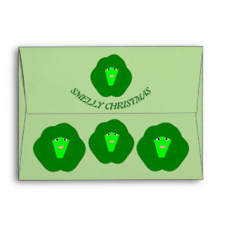 Smelly Christmas Brussels Sprout Custom Envelopes