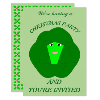 Smelly Christmas Brussels Sprout Custom Invites