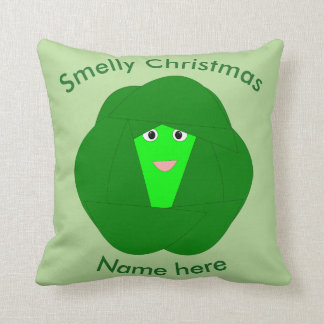 Smelly Christmas Brussels Sprout Custom Pillow