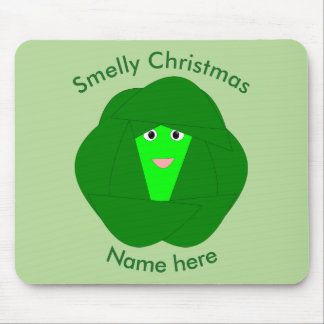 Smelly Christmas Brussels Sprout Mousepad