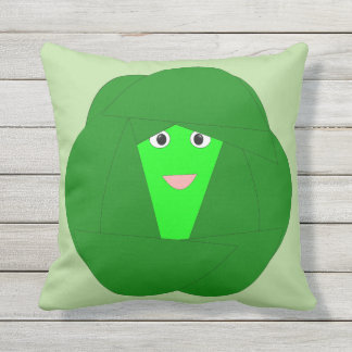 Smelly Christmas Brussels Sprout Outdoor Pillow