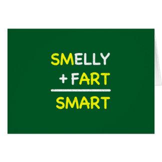 SMELLY + FART = SMART CARD