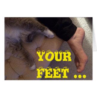 Smelly feet, funny card