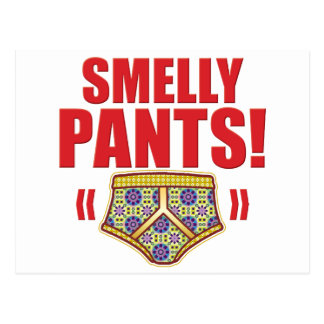 Smelly Pants Flowery Post Card
