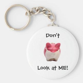 Smelly Pink Pig Basic Round Button Keychain