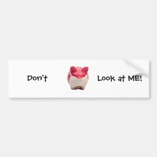 Smelly Pink Pig Bumper Sticker