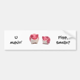 Smelly Pink Pigs Bumper Sticker