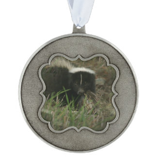 Smelly Skunk Scalloped Ornament
