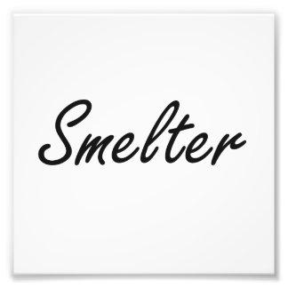 Smelter Artistic Job Design Photo Print