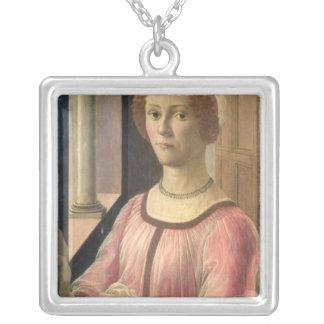 Smeralda Bandinelli Square Pendant Necklace