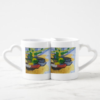 "Smeraldo Gallery ""Fishing Boats"" Coffee Mug Set"