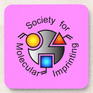 SMI logo coasters pink