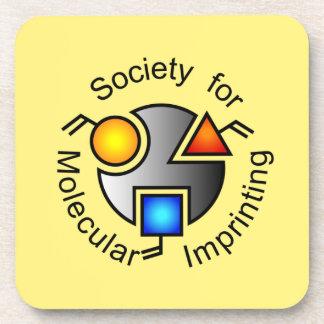 SMI logo coasters yellow