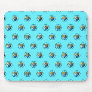 SMI logo mousepad blue tiled