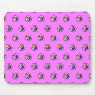 SMI logo mousepad pink tiled